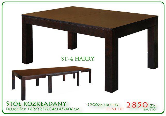 Duże stoły w cenach promocyjnych, stół drewniany Harry drewo dąb lub buk