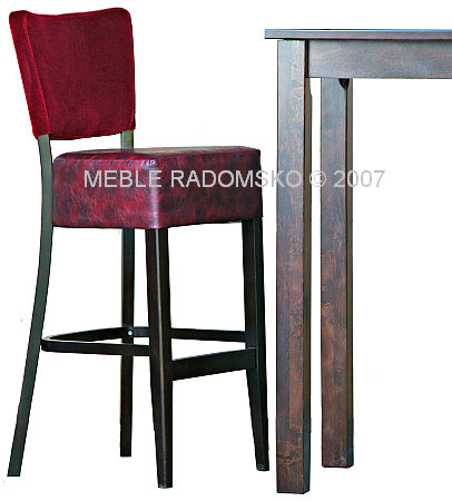 Hoker i stół restauracyjny firmy Meble Radomsko