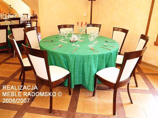 Realizacja wyposażenia firmy Meble Radomsko w restauracji Hydropatia w Krynicy