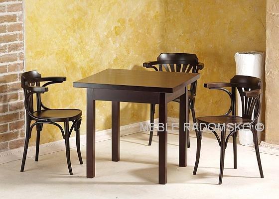 Wizualizacja miejsca w restauracji w/g Meble Radomsko | Stół ST-8 i krzesła B-1650